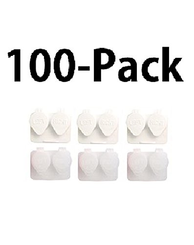 Deep Well Flip-top Contact Lens Cases Bulk Pack of 100