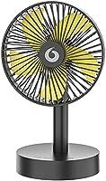 扇風機 卓上扇風機 usb 充電式 強風 静音 小型 3段風量調整 左右首振り 低騒音 省エネ 角度調整可能 USBファン 長時間連続使用 定時可能 自動停止