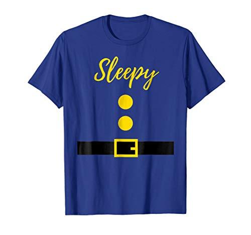 Dwarf Costume T-Shirt - Funny Halloween Gift Idea - Sleepy ()