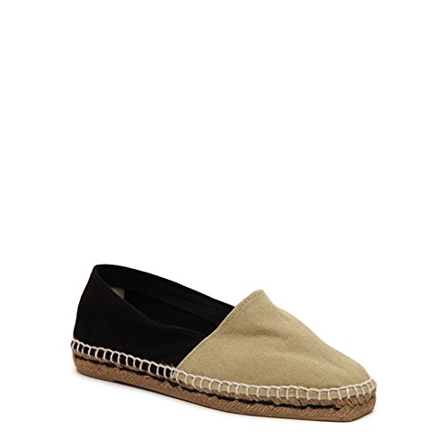 Donna Castaner Slip Onda On Canvas Espadrilla Onda / Canvas 600 Sand / Black Sz 37