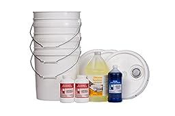 Sampler Pack w/buckets (1-detergent, 1-sanitizer, 1-rinse), Commercial Grade,