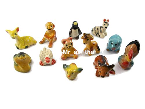Used, Collection Figurines Animals Painted Ceramic Miniatures for sale  Delivered anywhere in USA