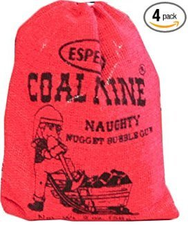Coal Mine Naughty Black Nugget Bubblegum 4 Bags Candy]()