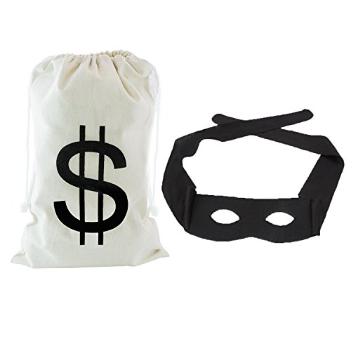 Venice Carnival Costumes To (Party Mask, Coxeer Zorro Mask Mardi Gras Mask Black Cosplay Mask Masquerade mask with Money Bag)