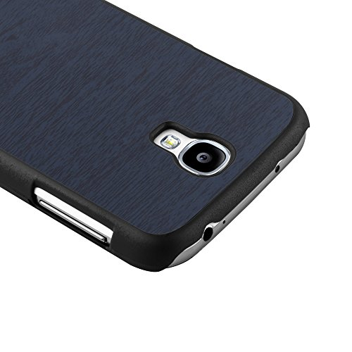 Cadorabo - Hard Cover Protección para Samsung Galaxy S4 en Diseño Woody - Case Cover Funda Protectora Carcasa Dura Hard Case de Estilo Madera en WOODY-AZUL WOODY-AZUL