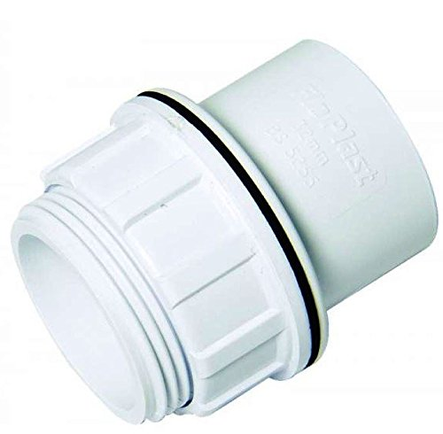 FLOPLAST Solvent White 40mm (43mm) Tank Connector - Bag of 10