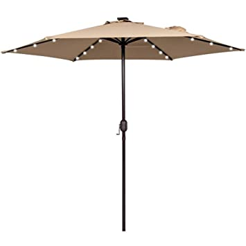 Amazon Com Sundale Outdoor 9ft Solar Powered 24 Led Lighted Patio