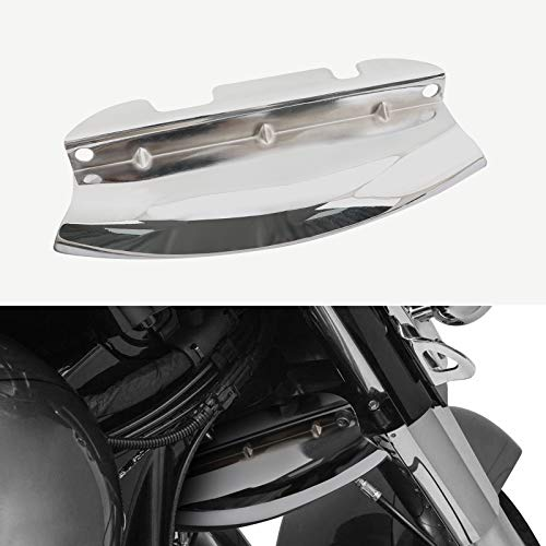 Artudatech Chrome Lower Triple Tree Wind Deflector For Harley Touring Street Glide 2014-18