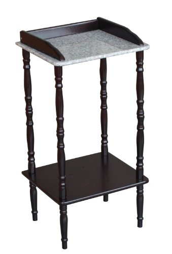 Frenchi Furniture 2 Tier Tele Stand W/marble Top