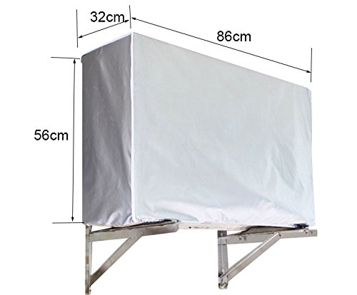 INKDSAT 86 x 32 x 56 cm Winter Anti-Snow Waterproof Dustproof Outdoor Window AC Unit Mini Split System Air Conditioner Cover by INKDSAT (Image #6)