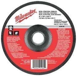 "MILWAUKEE ELECTRIC TOOL 49-94-7020 7"" x 1/4"" x 7/8"" Type 27 - Grinding Wheel"
