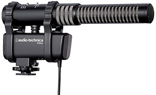 Camera Mount Stereo Condenser Microphone (Audio-Technica AT8024 Stereo/Mono Camera-Mount Microphone)
