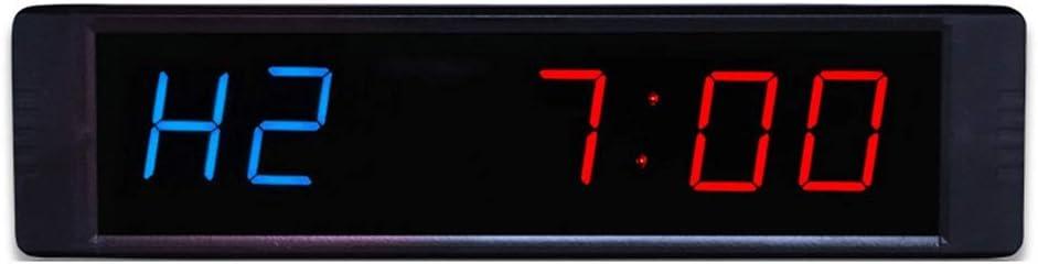 なデジタルLED壁掛け時計 桁LEDインターバルタイマーワークアウトタイミングカウントダウンウォールクロックホームリモコン用リモコン (色 : ブラック, サイズ : 21.5X2X5.5CM) ブラック 21.5X2X5.5CM