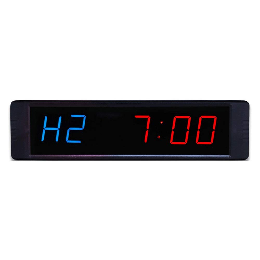 Large Digital Clock Digits LED Workout Timing Countdown Interval Timer Wall Clock with Remote Control for Home Gym for Office School (Color : Black, Size : 21.5X2X5.5CM) by JIANGXIUQIN-Home