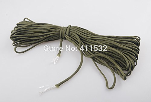 100 Ft Paracord 550 Paracord Parachute Cord Lanyard Rope Military Spec Type III 7 Strand ()