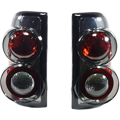 Pair Tail Light for 97-04 Dodge Dakota Left & Right Altezza Style Smoked Lens ()