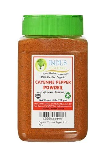 Indus Organics Powder, Cayenne Pepper, 8 Ounce
