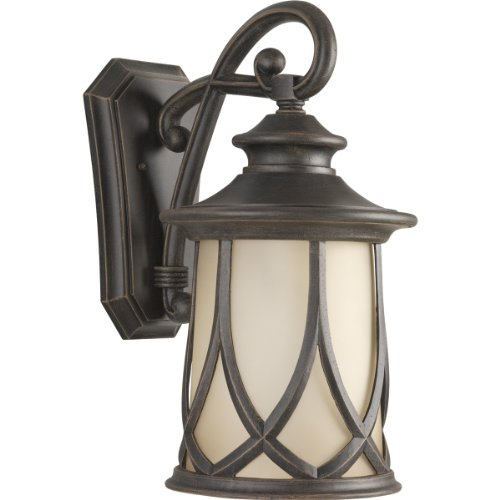 Progress Lighting P5989-122 Resort Collection 1-Light Wall Lantern, Aged Copper