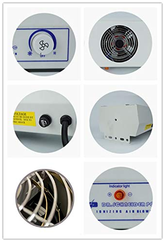 YUCHENGTECH Suspended Ionizing Air Blower Static Eliminate Fan ESD Industry Electrostatic Eliminator (4-Fan, 110V)