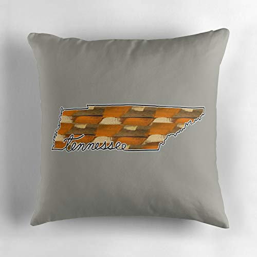 Uwwrticm Tennessee Checkered Volunteers Double-Sided Print Throw Pillow Cover Square Pillow Case Cover Couch Pillow Case Cover Cotton 18x18 Inch ()