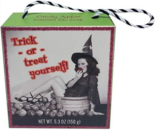 CST Commonwealth Soap Toiletries Halloween Witch Goodie Bag Assorted Soaps Retro Vintage Art Ladies 5.3 Ounce Bar (Candy -
