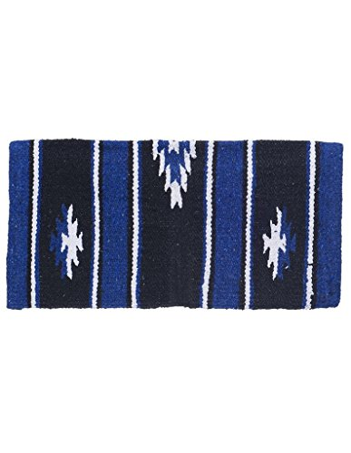 Tough 1 Wool Sierra Miniature Saddle Blanket, Royal/Black, used for sale  Delivered anywhere in USA