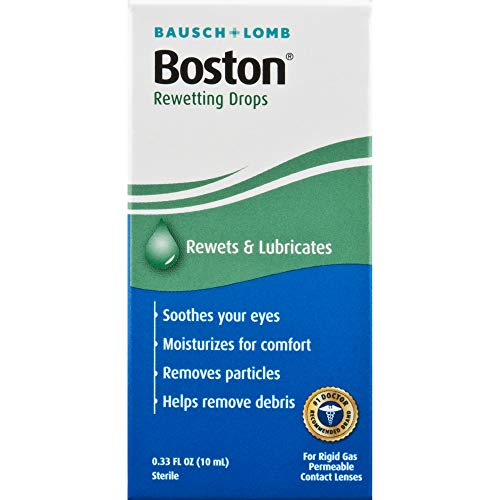 Boston Rewetting Drops for Rigid Gas Permeable Contact Lenses, 1/3 Ounce Bottle