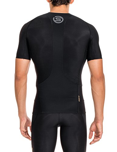 Skins Men's A400 Short Sleeve Compression Top, Black, X-Small by Skins (Image #2)