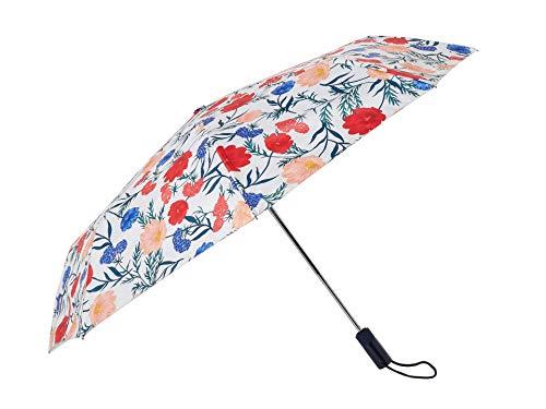- Kate Spade New York Floral Travel Umbrella, Blossom (Red/Blue/Multi)