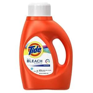 Tide Bright HE Original Scent Liquid Laundry Detergent 26 Loads 50 Fl Oz (Pack of 2)