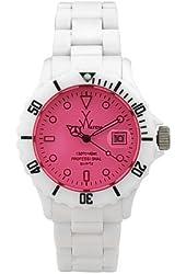 Toy Watch Unisex FL01WHPK Crystal Plasteramic Watch