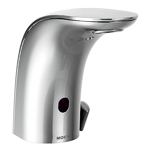 Moen 8554 Mpower Sensor Operated Single Mount Above Deck Lavatory High Arc Battery Powered Faucet