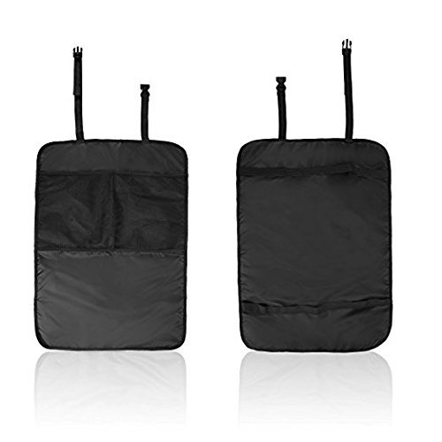 1 Back Pocket (Artempo Back Seat Protector 2 In 1 Kick Mats with Pocket Storage Organizer-2 Pack)