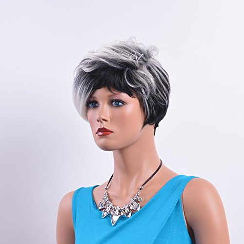 Amazon.com : New Synthetic Wigs Pelucas Sinteticas Short Wave Silver Wig For Black Women Pelucas Pelo Natural Zootopia Cosplay Goldway Hair : Beauty