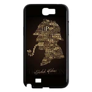SUUER Sherlock Holmes Logo Benedict Cumberbatch Hard CASE TPU Phone case cover for SamSung Galaxy Note2 7100 black