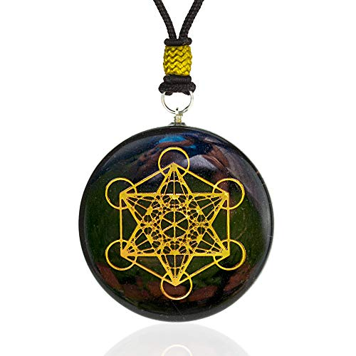 Orgone Pendant - Metatron's Cube Merkaba | Amulet Pendant With Black Tourmaline Crystal | Emf Protection Pendant Jewelry For Healing | Gift Necklace