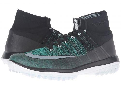 Nike Golf(ナイキ) メンズ 男性用 シューズ 靴 スニーカー 運動靴 Flyknit Elite - Black/Clear Jade/Glacier Blue/White [並行輸入品] B07BDQXTS6