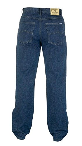 """COTTON RICH COMFORT FIT BLACK OVERDYE JEANS BY ROCKFORD WAIST SIZE 30/"""" TO 60/"""""""