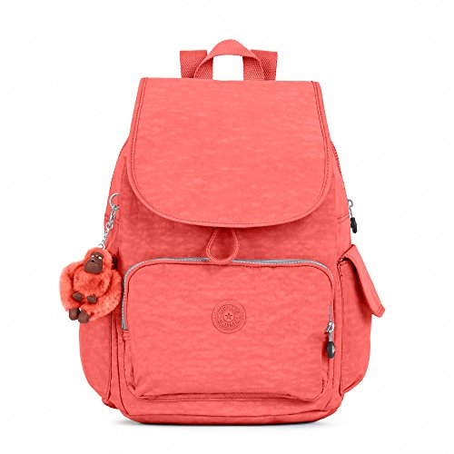 Kipling Women's Ravier Medium Backpack One Size Papaya Orange Cargo Lip Pencil