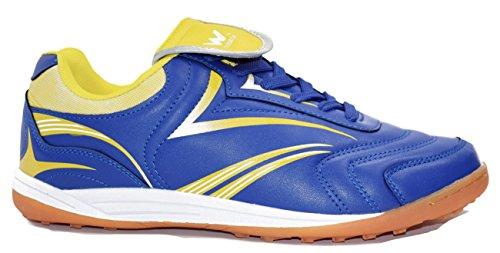 Walstar Mens Indoor Fußballschuh Turnschuhe Schuhe Blau Gelb