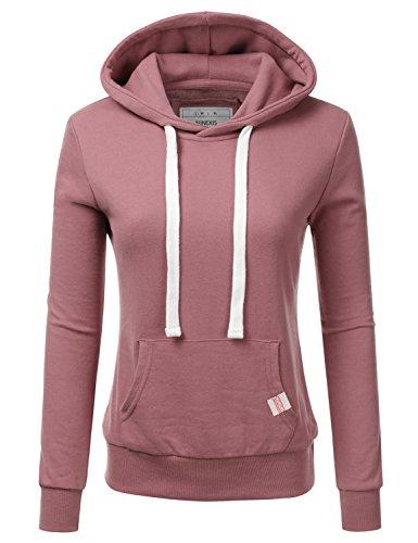 NINEXIS Womens Long Sleeve Fleece Pullover Hoodie Sweatshirts BEGONIAPINK ()