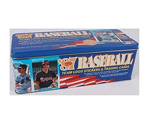 1987 Fleer Glossy MLB Baseball Factory Tin - Factory Set Tin