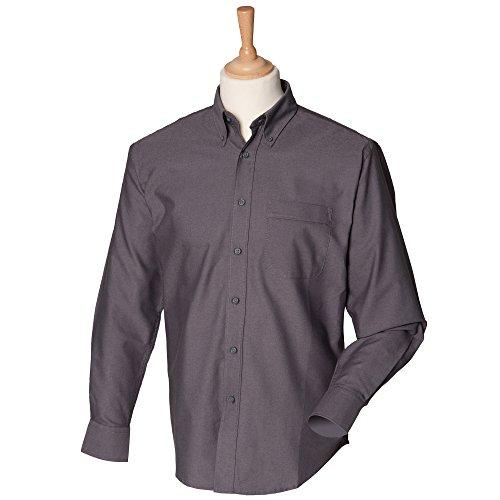 Henbury - Camisa formal - para hombre gris oscuro