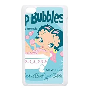 iPod Touch 4 Case White Betty Boop Bubbles Sboox