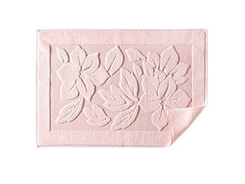 Astrea Textiles Bath Rug Bathroom Floor Mats - Washable Bathtub Shower Sink Floor Towels - 100% Turkish Cotton Bath Mat Foot Towels - Cream, Light Pink, Lighte Brown (1, Light Pink)