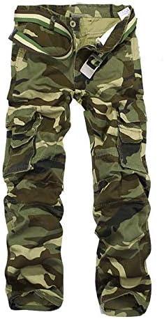 IKIIO Men\u2019s Outdoor Cargo Pants Camo Work Ripstop Military Army Combat Tactical Pant