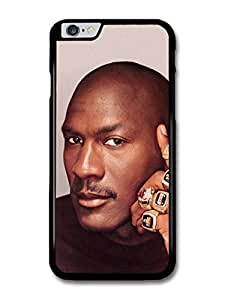 Michael Jordan MJ 23 Basketball Portrait with Rings case for iPhone 6 Plus