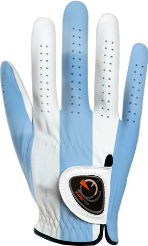 easyglove Classic_Blue-Large-M-R Men's Golf Glove (White), Medium/Large, Worn on Right Hand