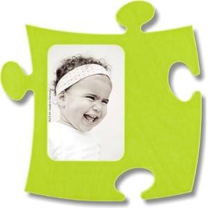 Country Living Quadro Puzzle In Legno 1 Fotografica 9 X 13 Cm Verde Mela