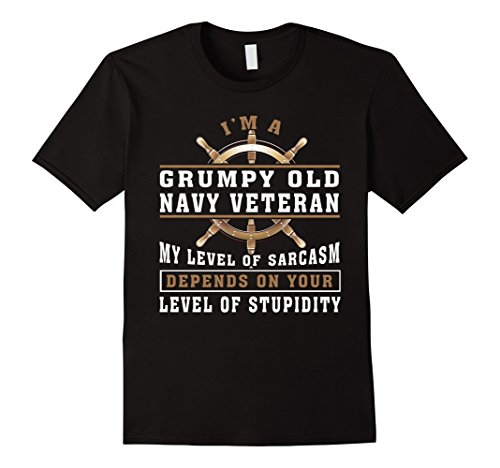 Mens Im A Grumpy Old Navy Veteran T Shirt